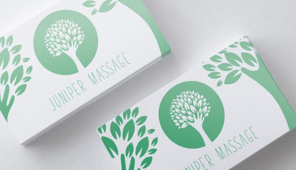 Juniper Massage - Business card