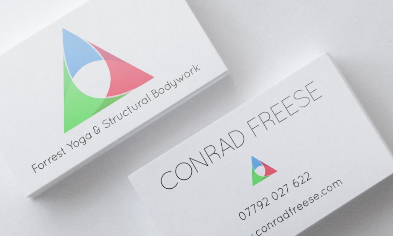 Conrad Freese business card mockup