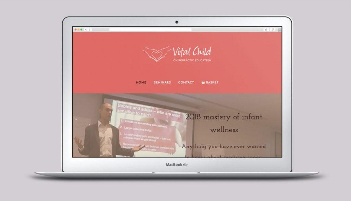 Vital Child Education Website - Homepage