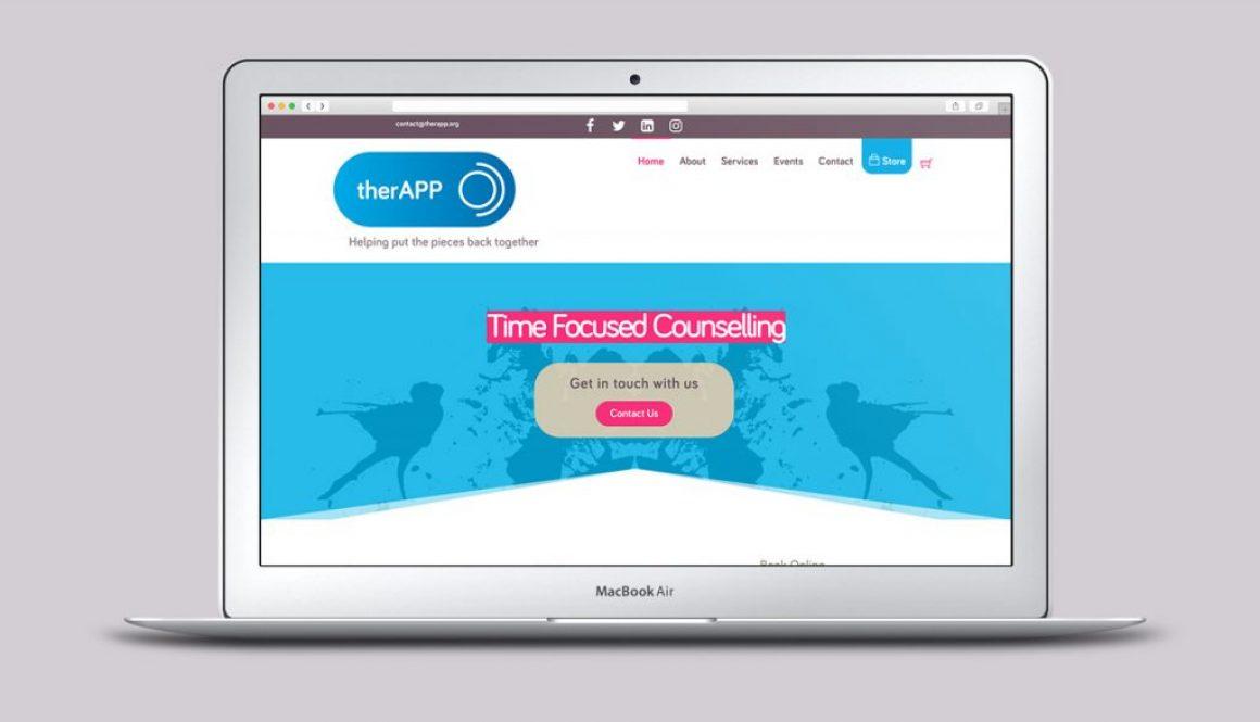 therAPP website homepage
