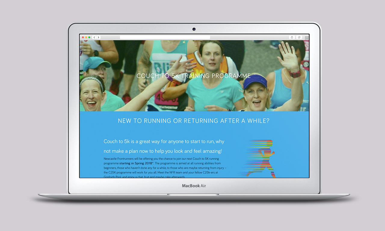 Newcastle Frontrunners Website - Couch to 5K