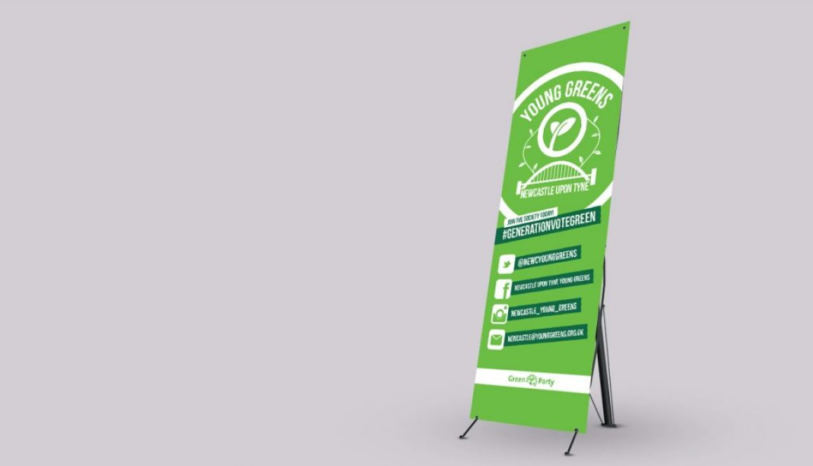 Young Greens Newcastle - Banner stand