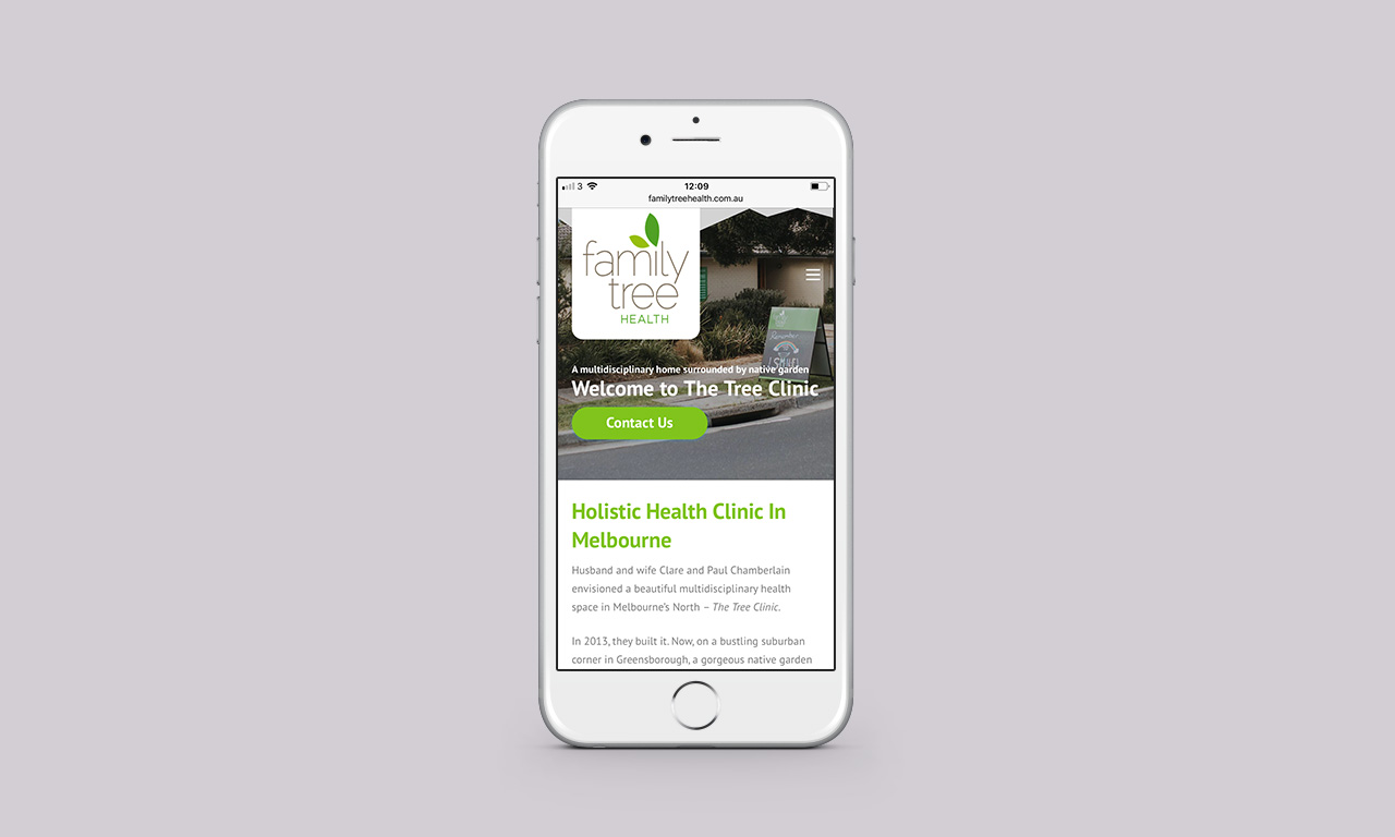 Holistic Care Website - Clinic