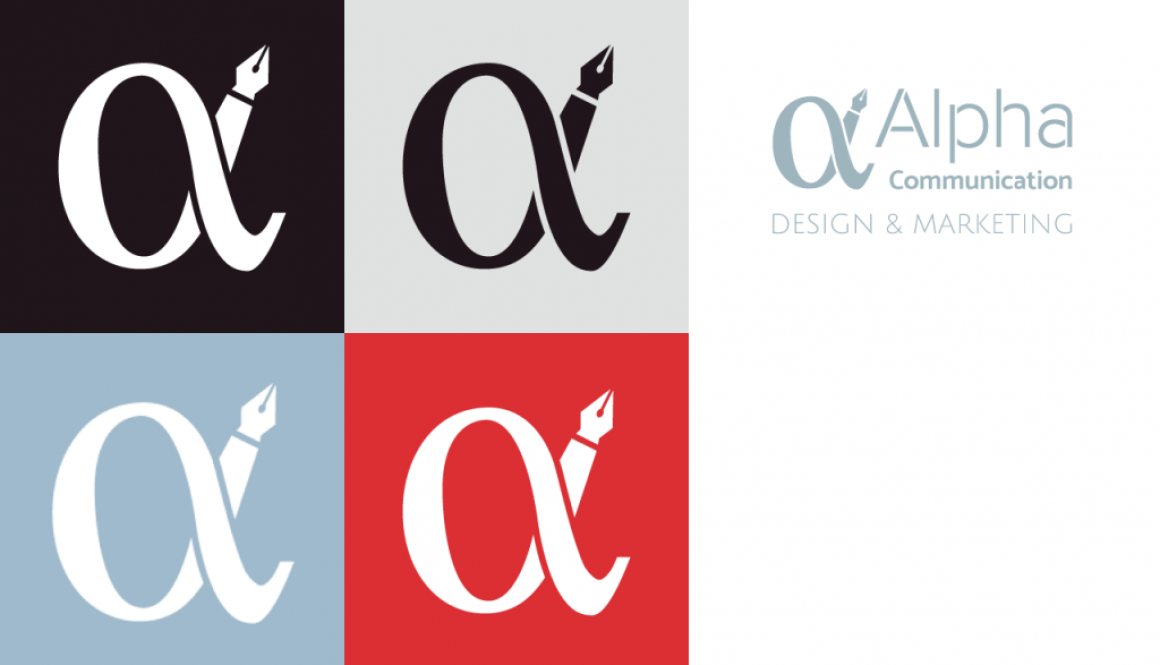 Alpha Communication branding design