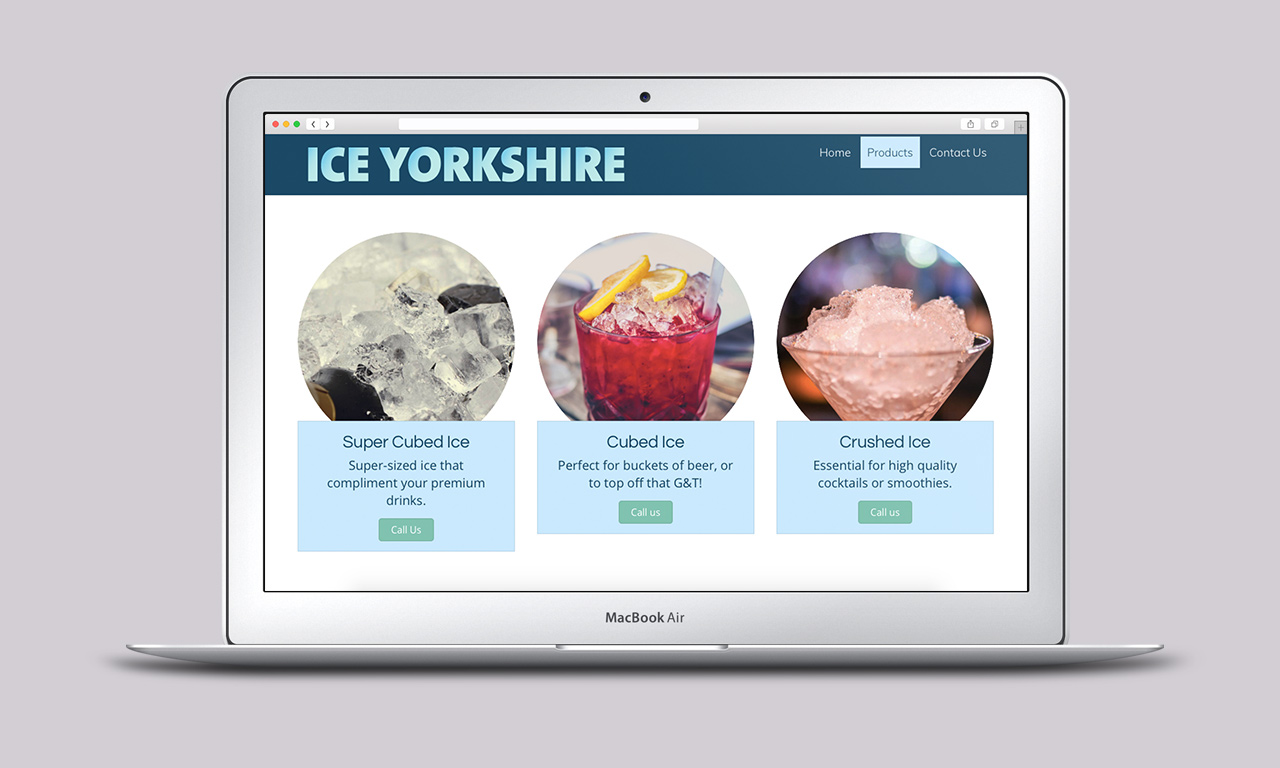 Ice Yorkshire Website - Designed by Harry Vann
