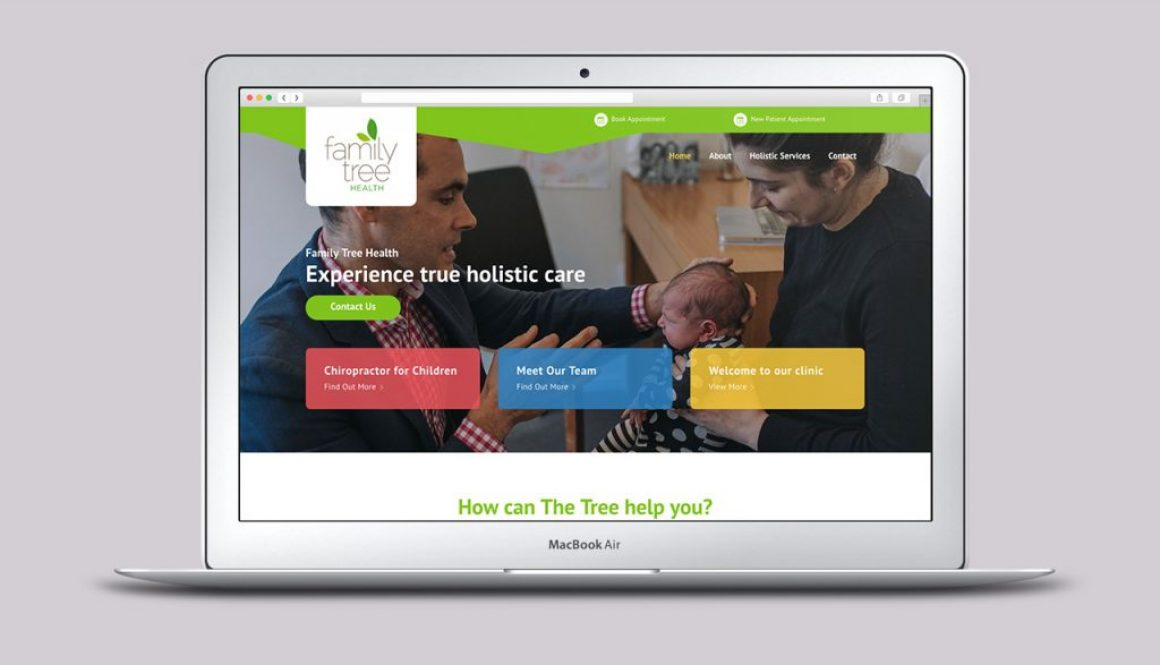 Holistic Care Website - Homepage