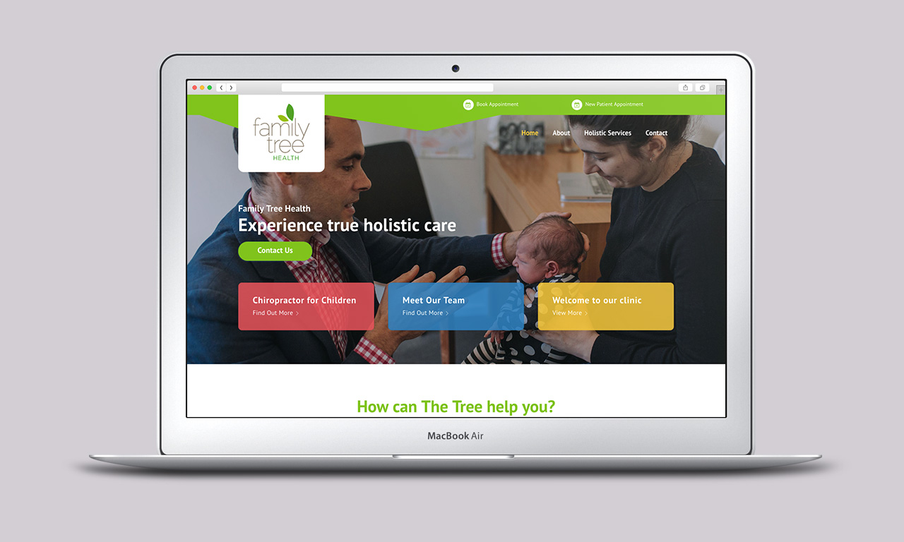 Holistic Care Website - Homepage
