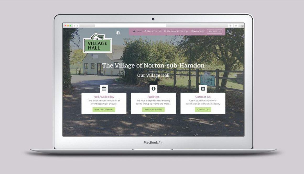 Village Hall Website homepage