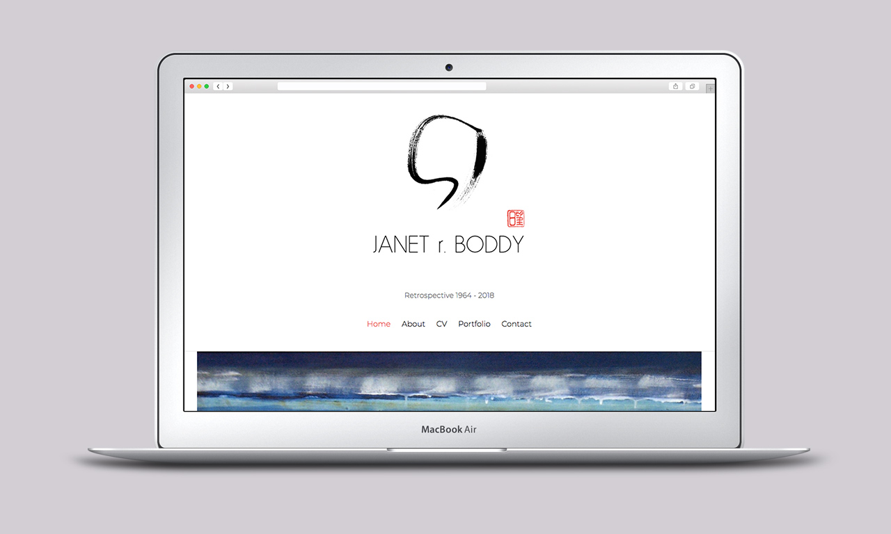 Artist Website for Janet r Boddy - Designed by Harry Vann