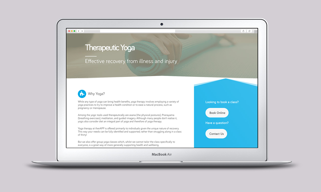 therAPP Website Service page