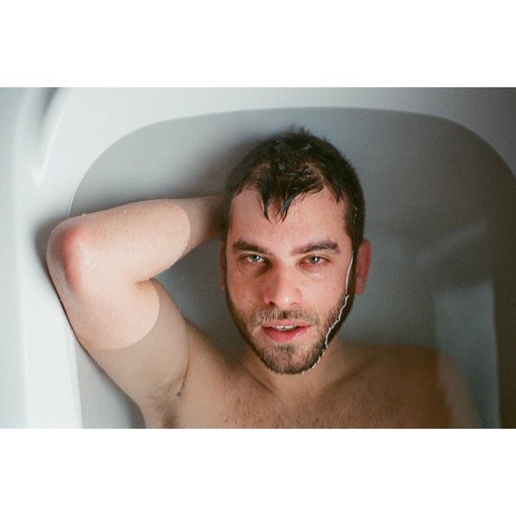 Man in the bath