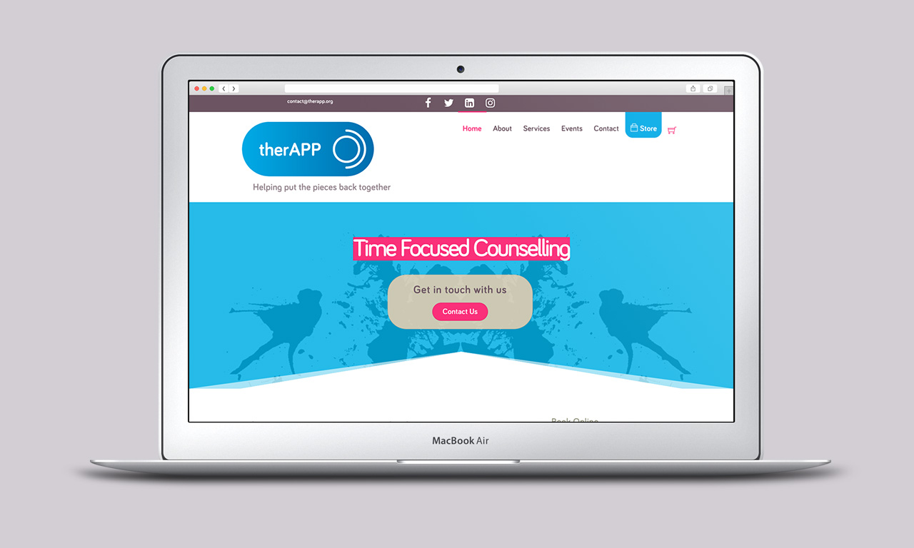 therAPP website homepage