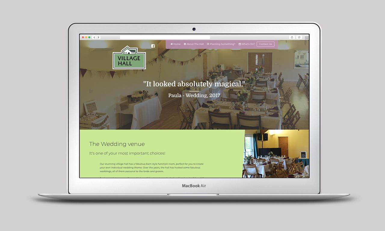 Village Hall Website Wedding Page