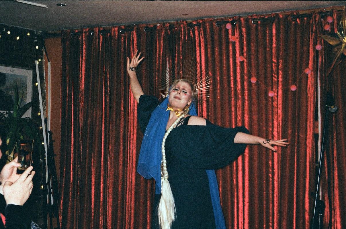 Virgin Mary queer performer