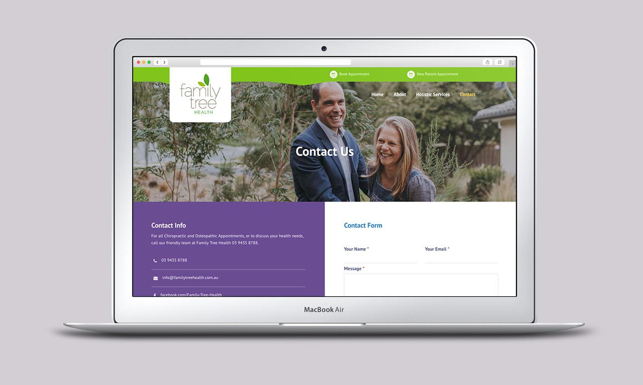 Holistic Care Website Homepage