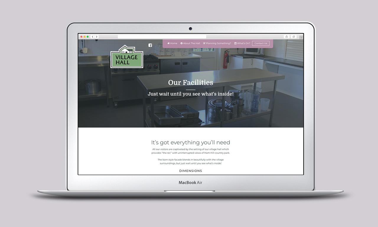 Village Hall Website Facilities page