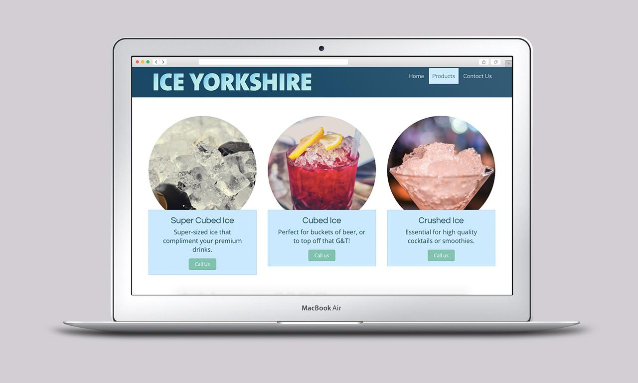 Ice Yorkshire Website - Designed by Harry Vann