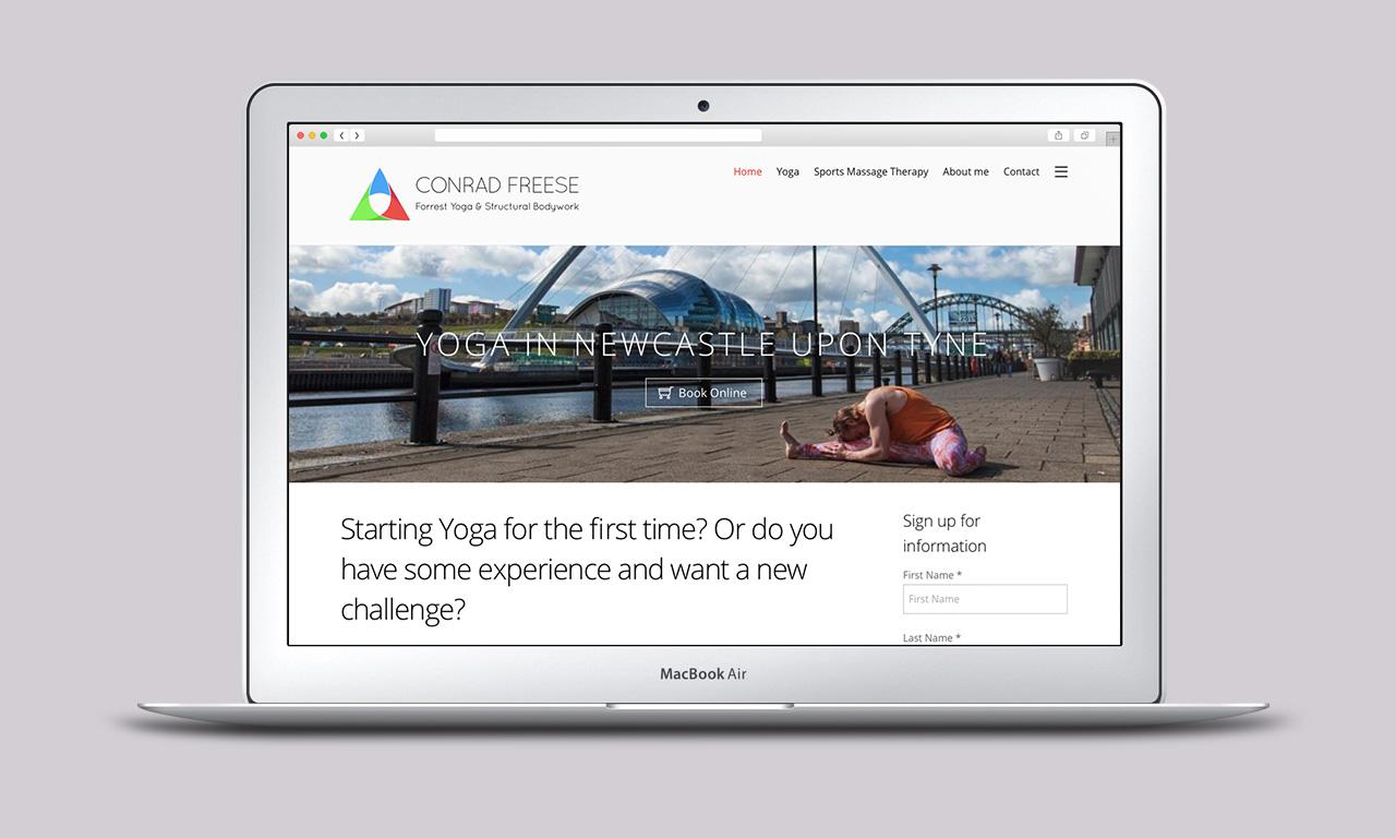 Conrad Freese - website design